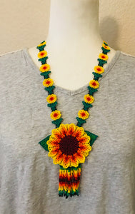 Traditional Flower Necklace, Yellow