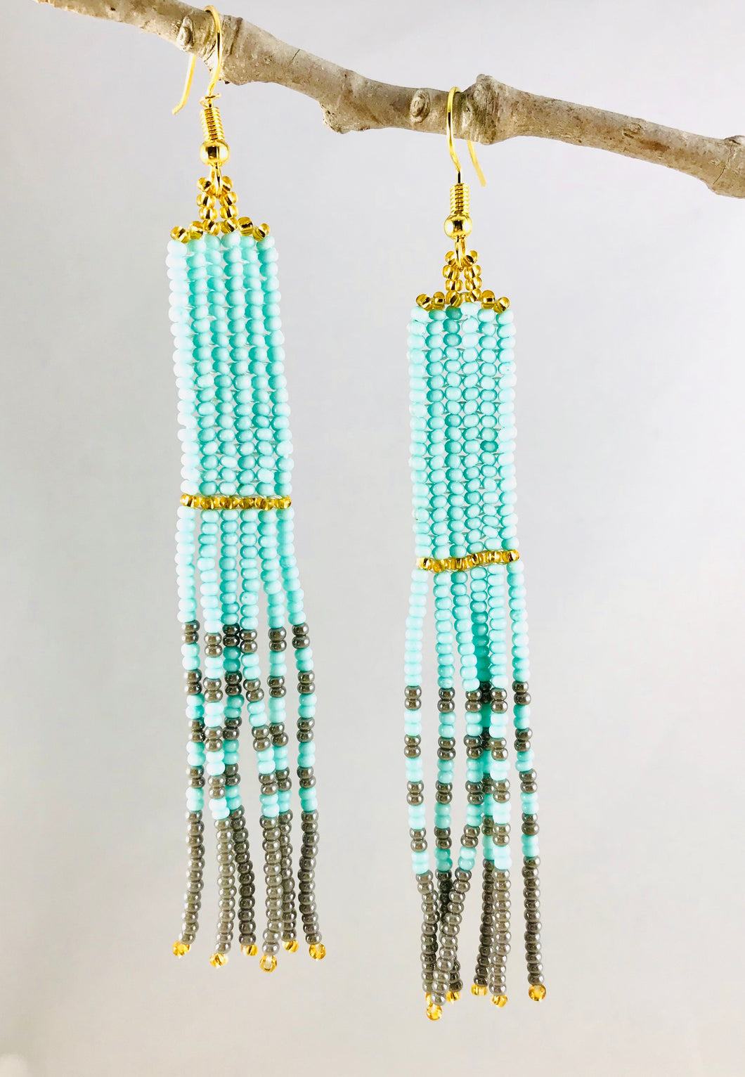 Simply Perfect Earrings, Mint/Grey