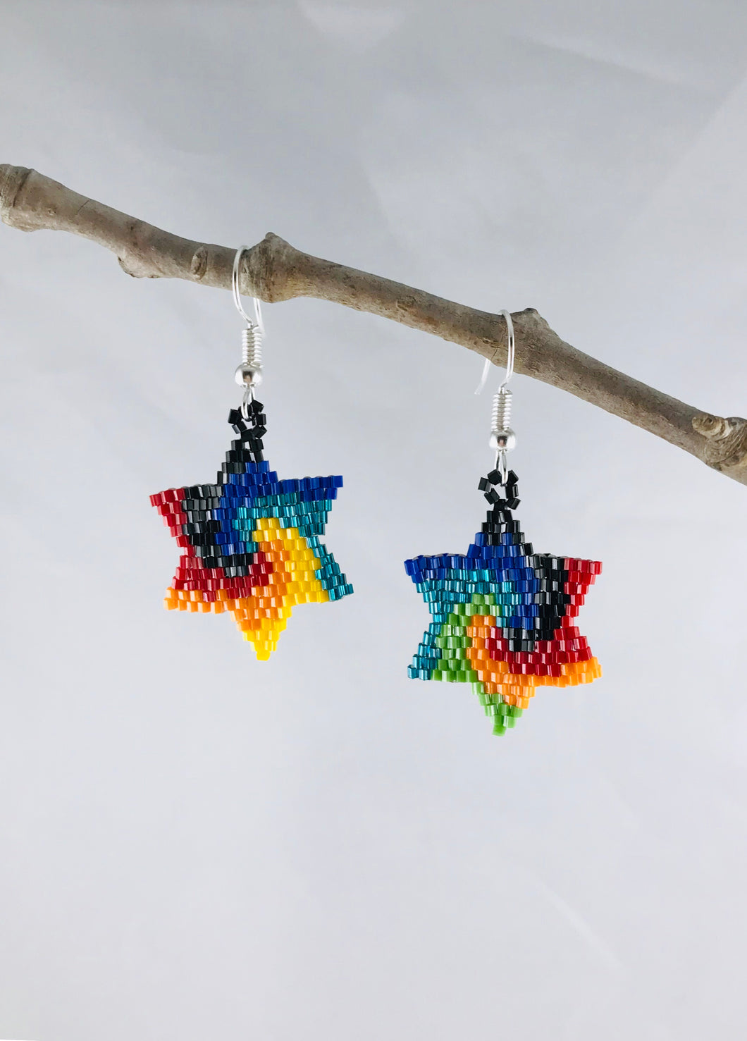 Estrella Earrings, Primary Swirl