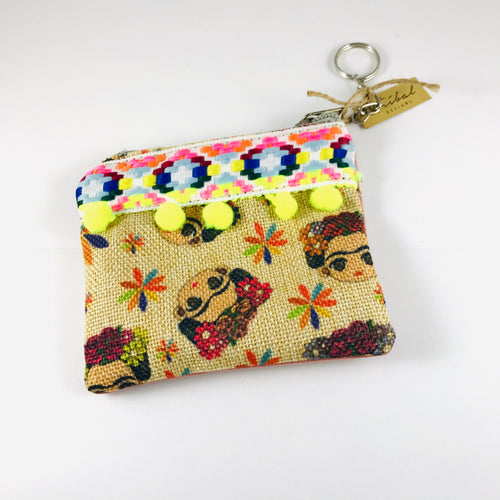 Frida Coin-purse, Natural/Yellow