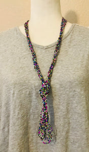 Elegant Knot Necklace, Spring Multi