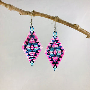 Aztec Dreams Earrings, Pink