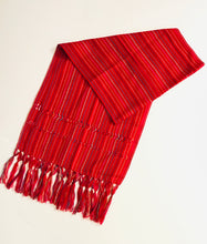 Woven Scarf, Deep Red