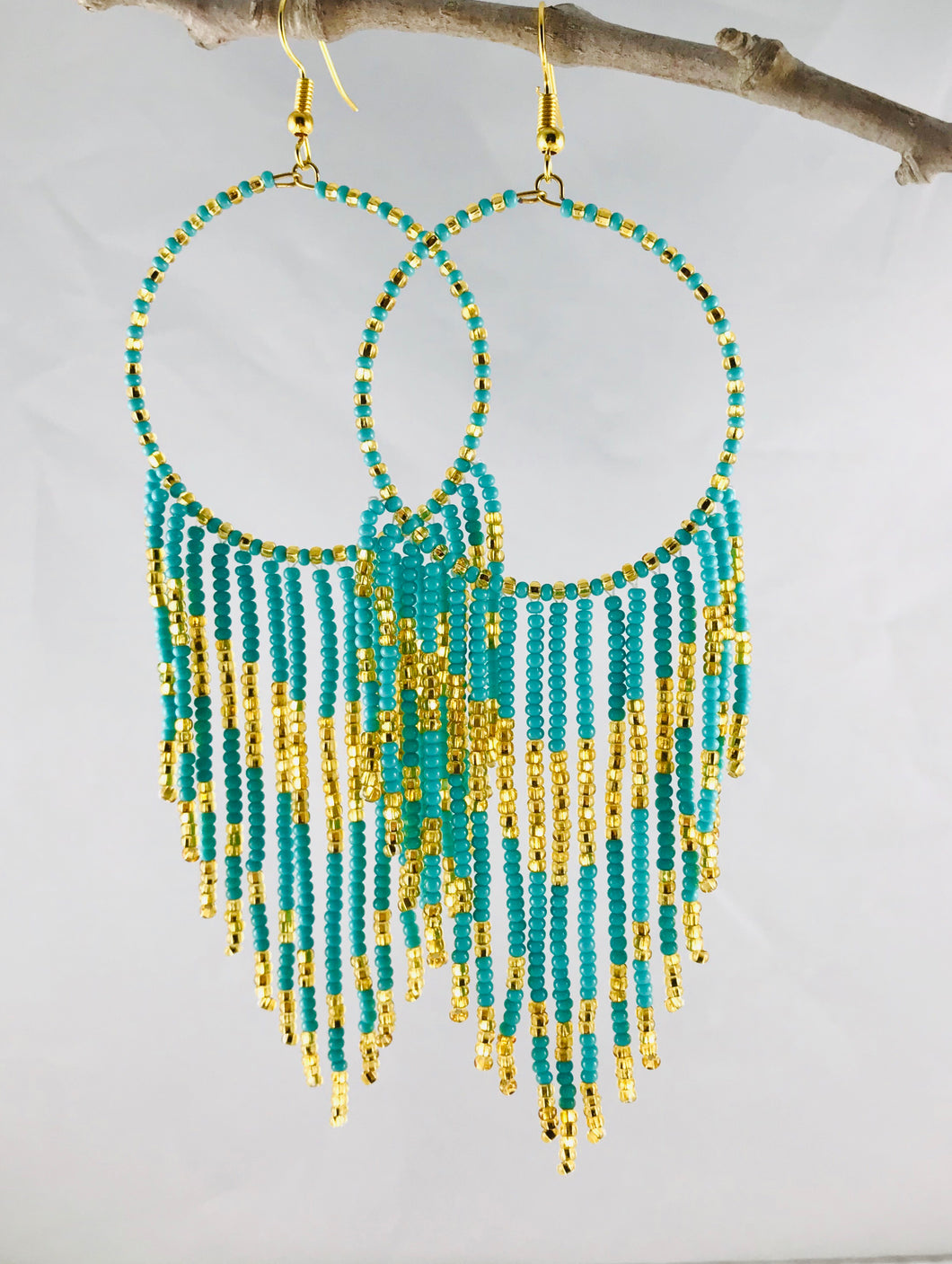 Rodeo Earrings, Turquoise / Gold