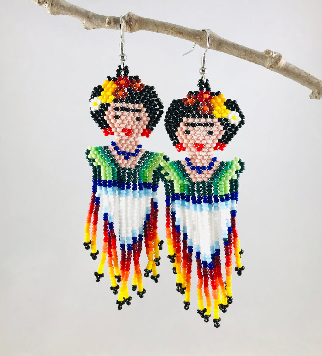 Lady Frida Earrings, Traditional