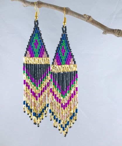 Ain't No Mountain High Enough Earrings, Charcoal/Gold