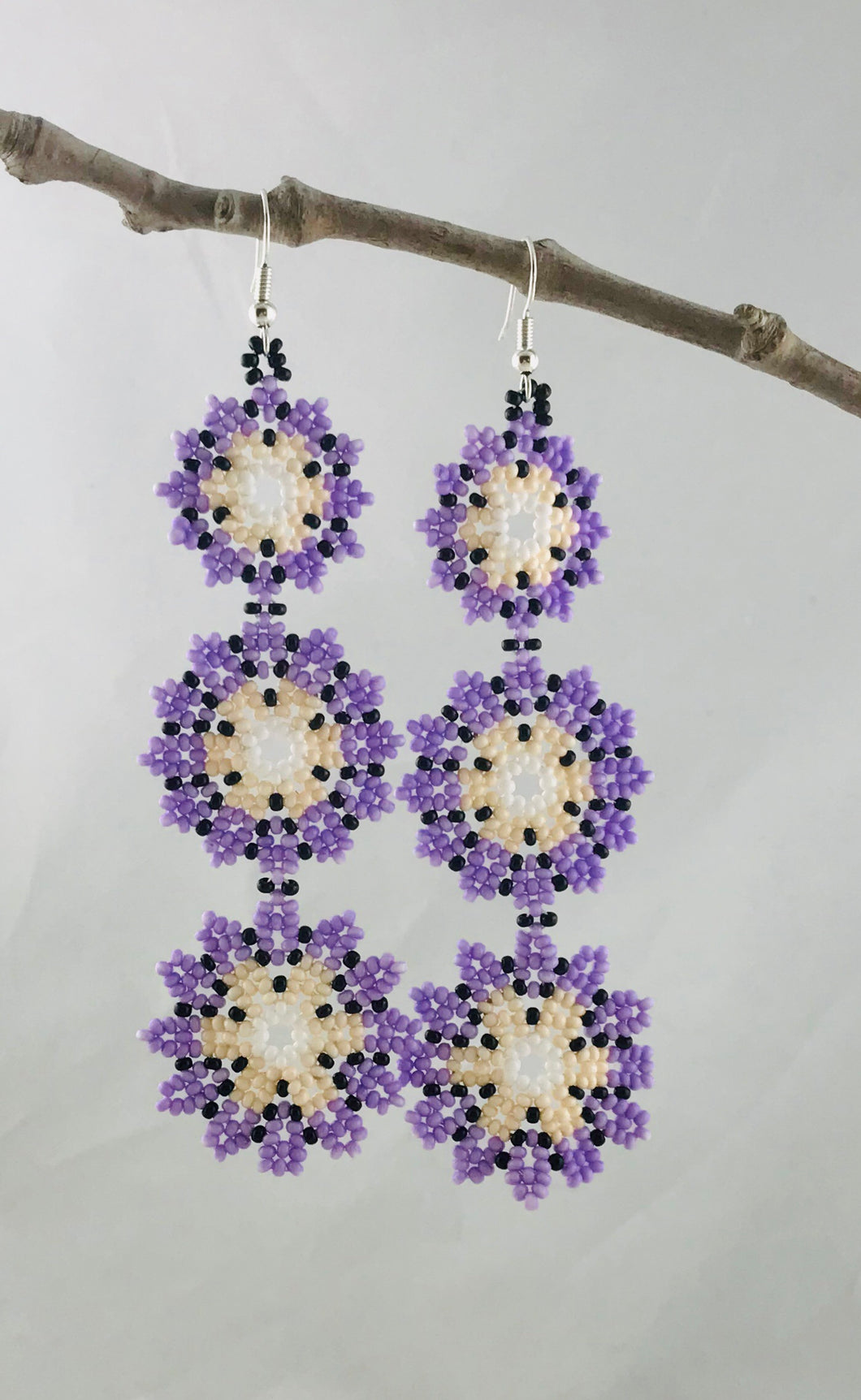 Hacienda Earrings, Lavender