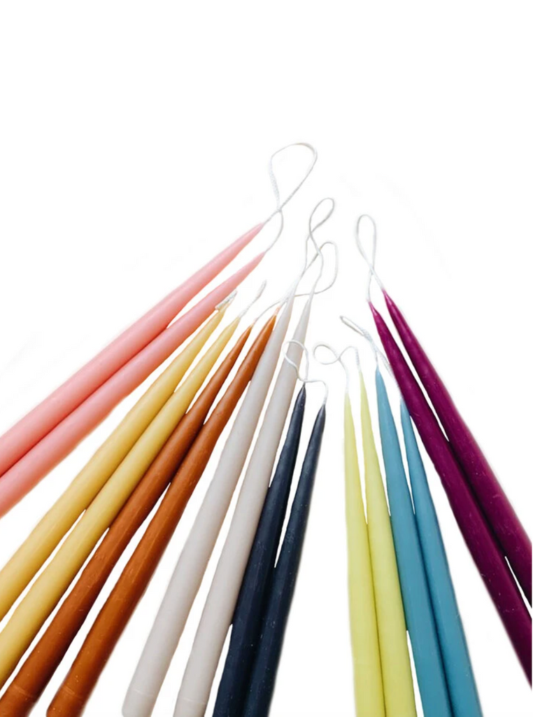 Taper Candles in multiple colors