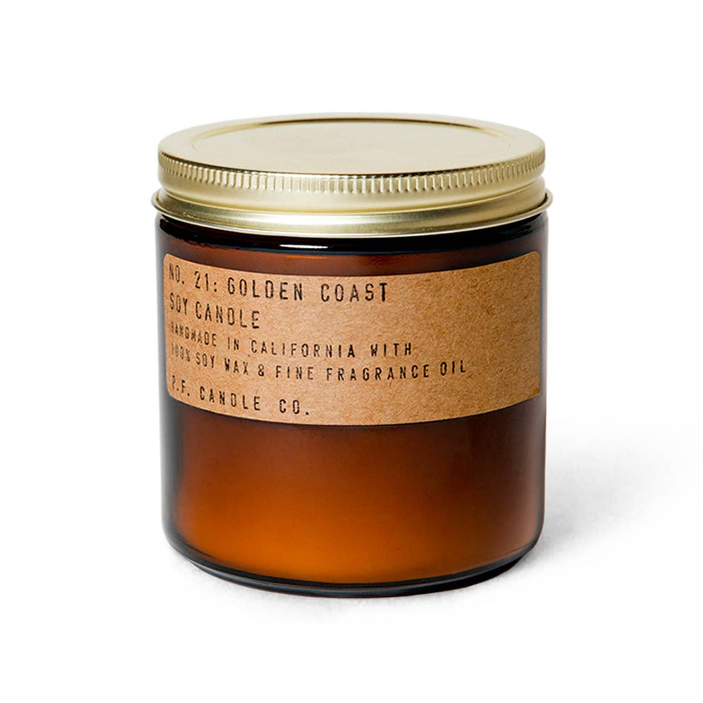 P.F. Large Amber Jar Soy Wax Candle