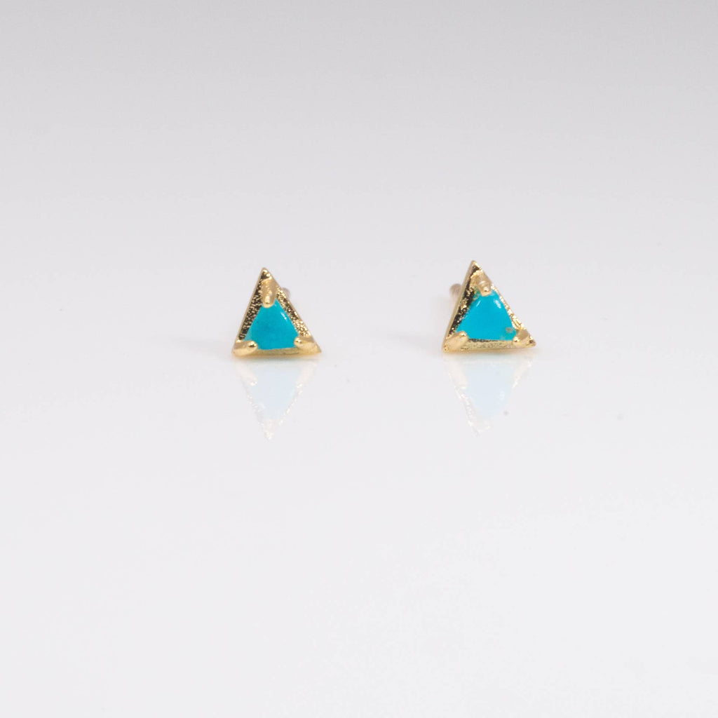 Mini Prong Triangle Stud Earrings