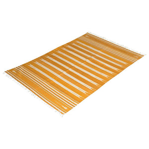 Amber Striped Dhurrie Rugs