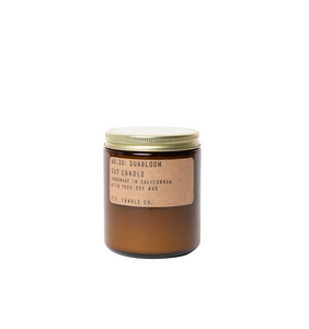P. F. Amber Jar Soy Wax Candle