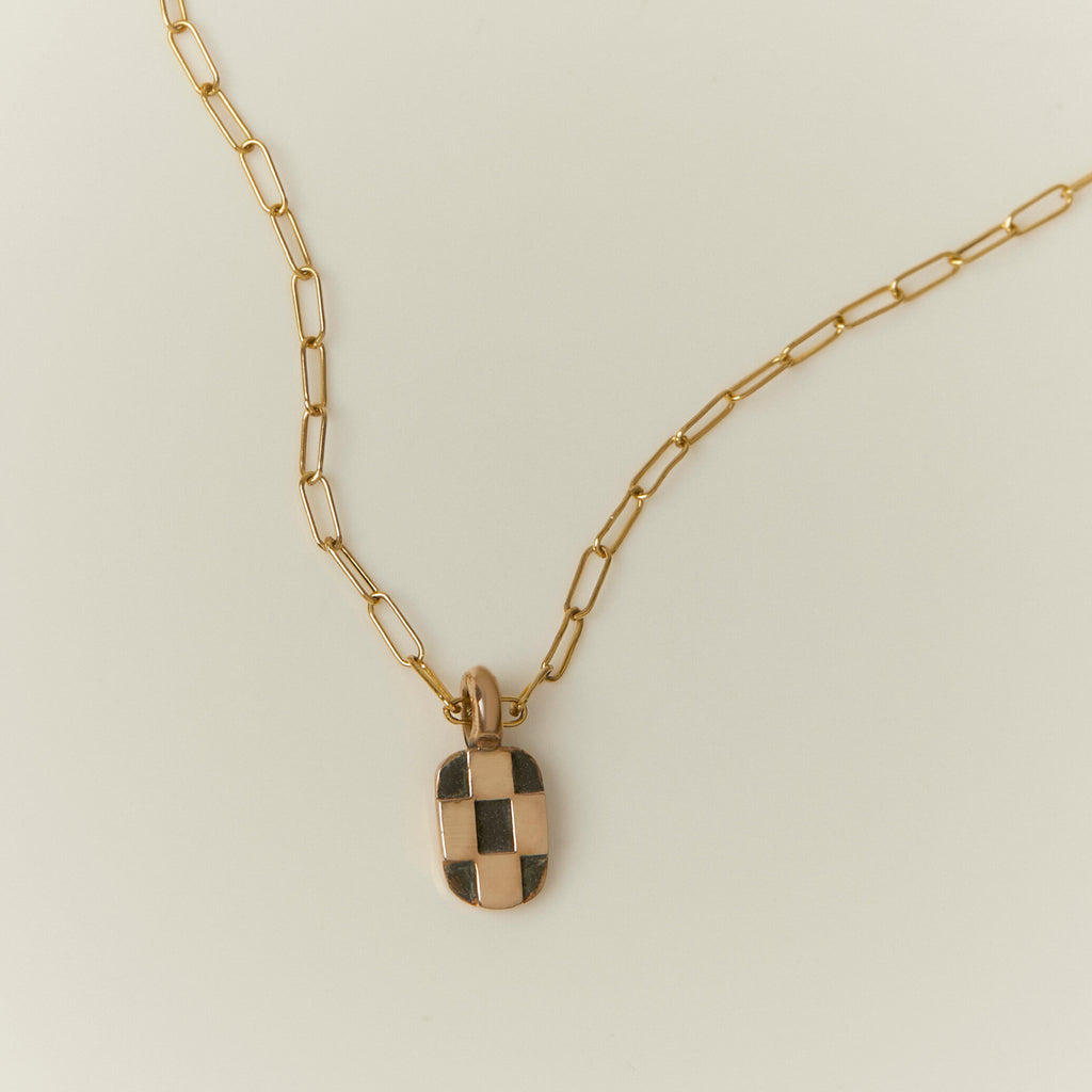Mini Checkerboard Necklace