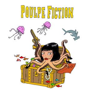 "Carte postale ""Poulpe Fiction"""