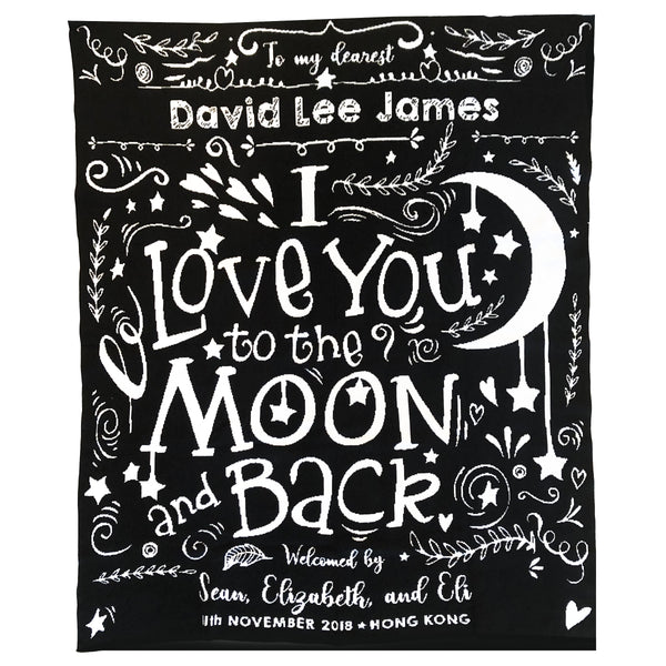 Love You To The Moon Announcement Blanket