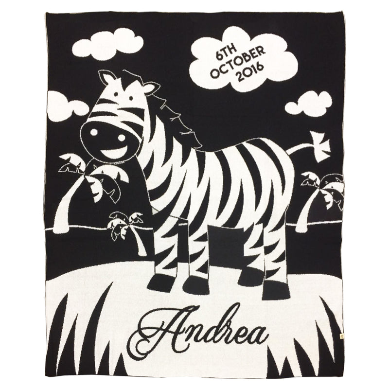 Zebra Time Blanket