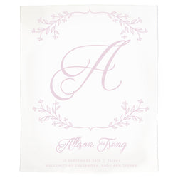 Initial Wreath Announcement Blanket