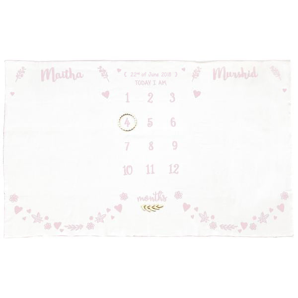 Meadow Twins Milestone Blanket