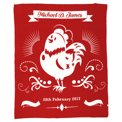 Happy Rooster Blanket