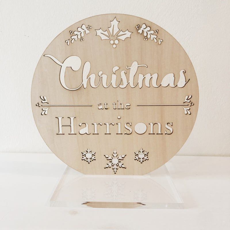 X'mas Family Plaque