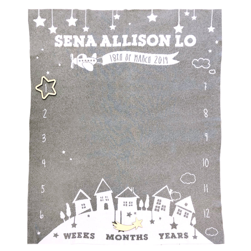 Wish Upon A Star Milestone Blanket