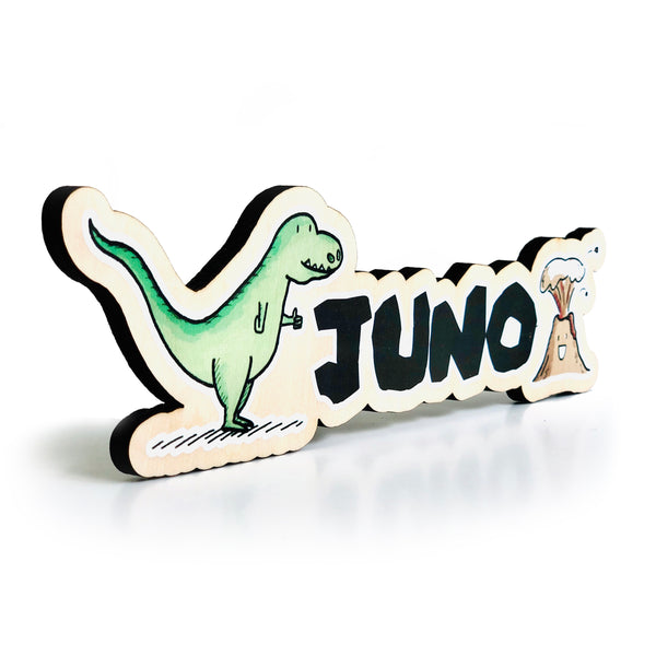 Dino+Lava Colored Name Sign