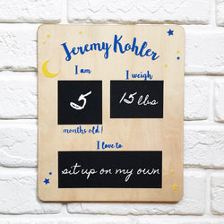 Moon & Stars UV Milestone Board