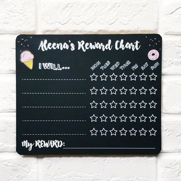 Ice Cream & Donut Weekly Reward Chart