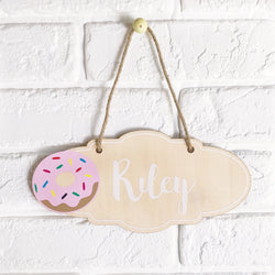 Donut Name Plaque