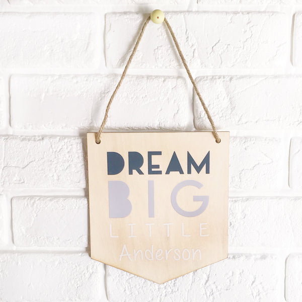 Dream Big Name Flag