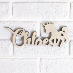 Unicorn Name Sign