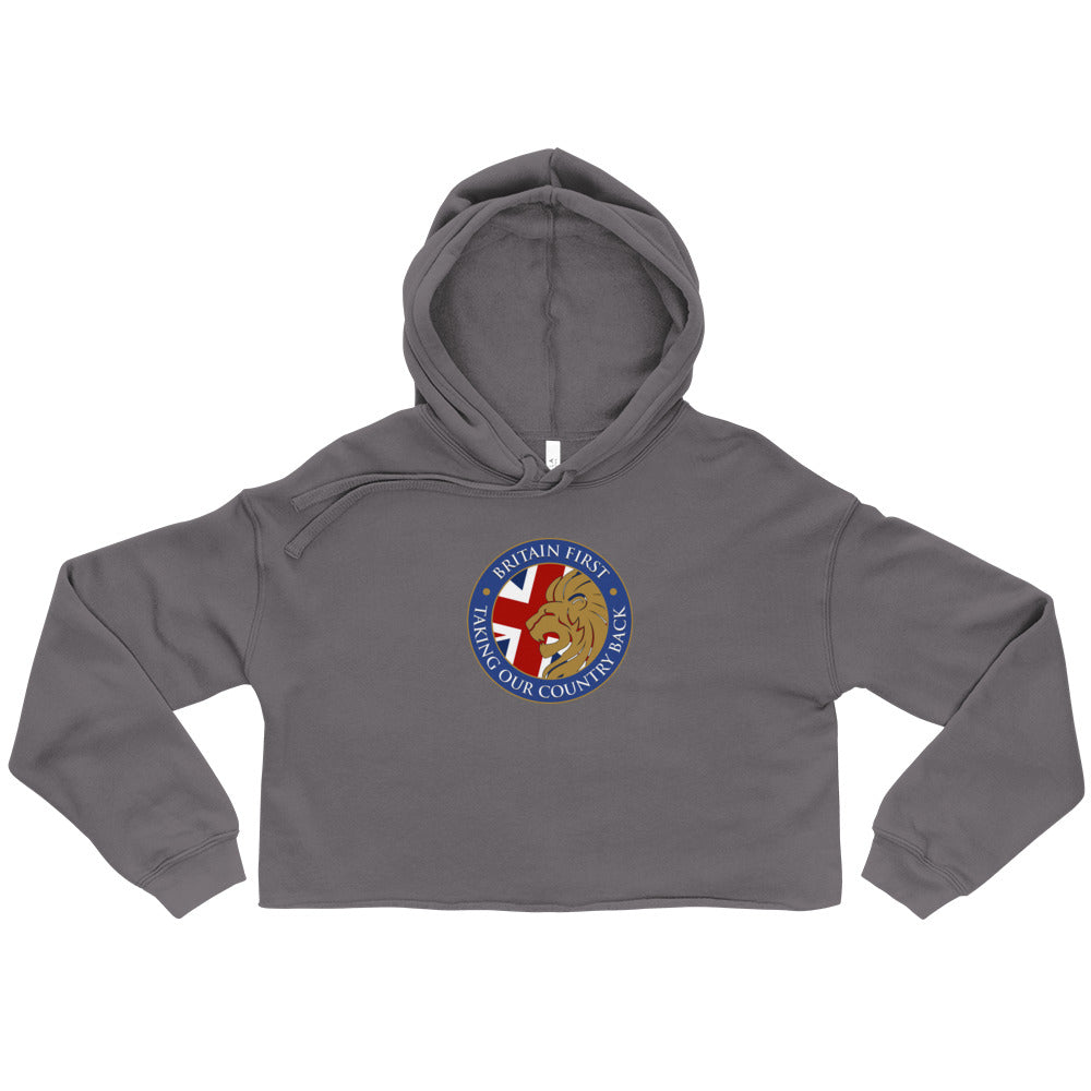 Britain First Women's Cropped Hoodie