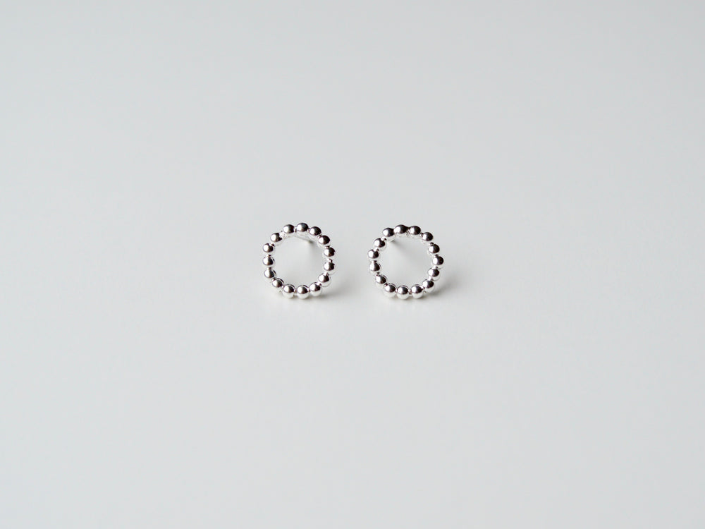 "New in: Ohrstecker ""Dotted Circle"" silber"