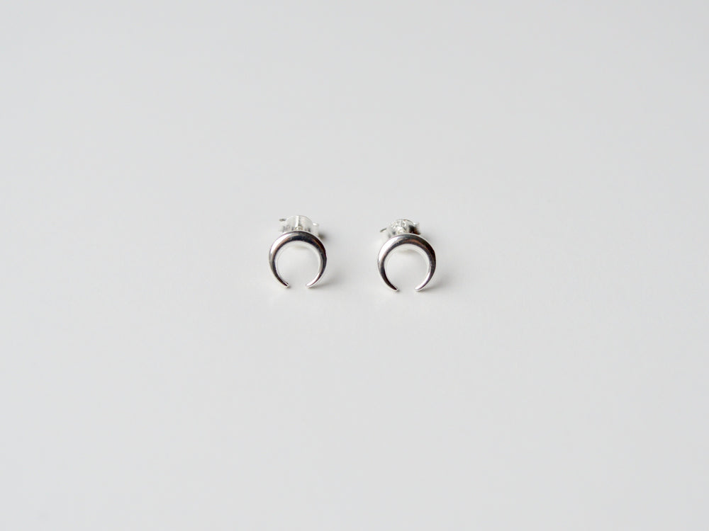 "New in: Ohrstecker ""Crescent Moon"" silber"