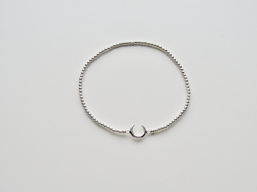 "New in: Stretch Armband ""Crescent Moon"" silber"