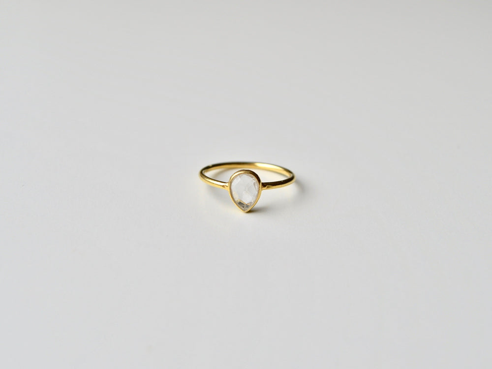 New in: Superzarter Quarz Ring vergoldet