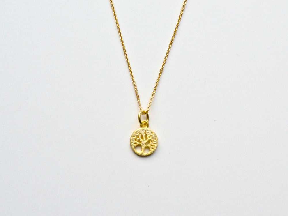 Inspiration: Tiny Tree of Life Kette vergoldet
