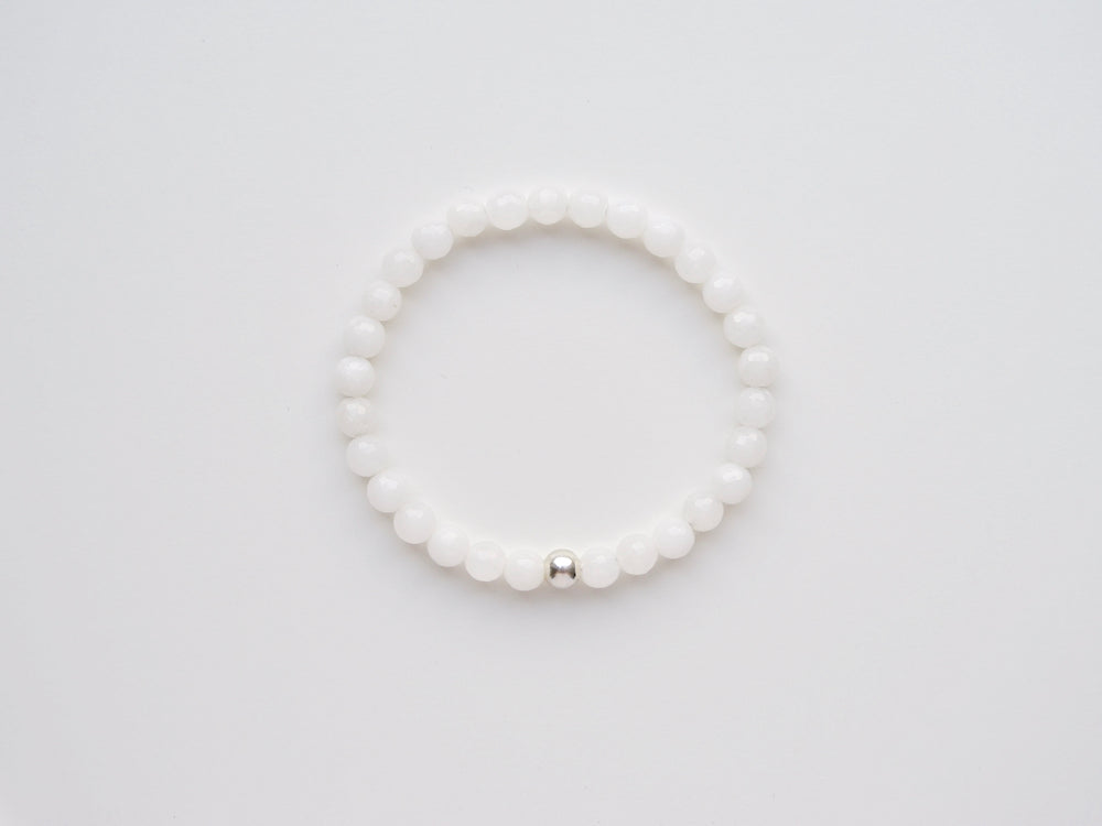 New in: White Onyx Armband silber