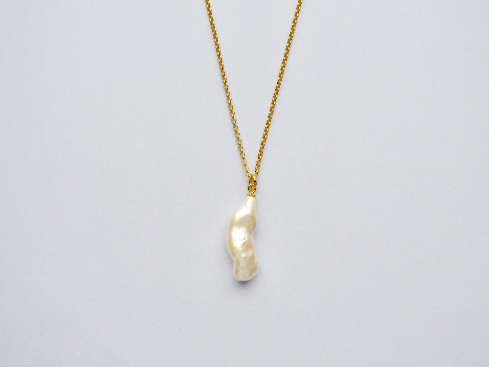 Baroque Pearls: Perlenkette Long Pearl vergoldet