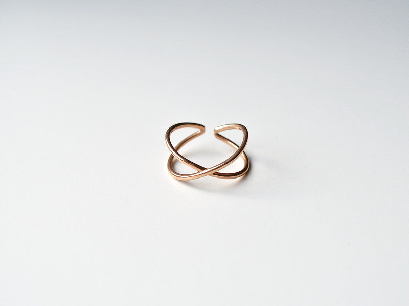 "New in: Ring ""Cross"" rosévergoldet"