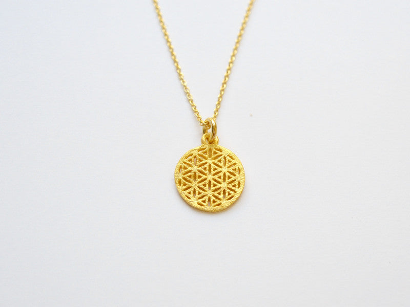 Inspiration: Flower of Life Kette vergoldet