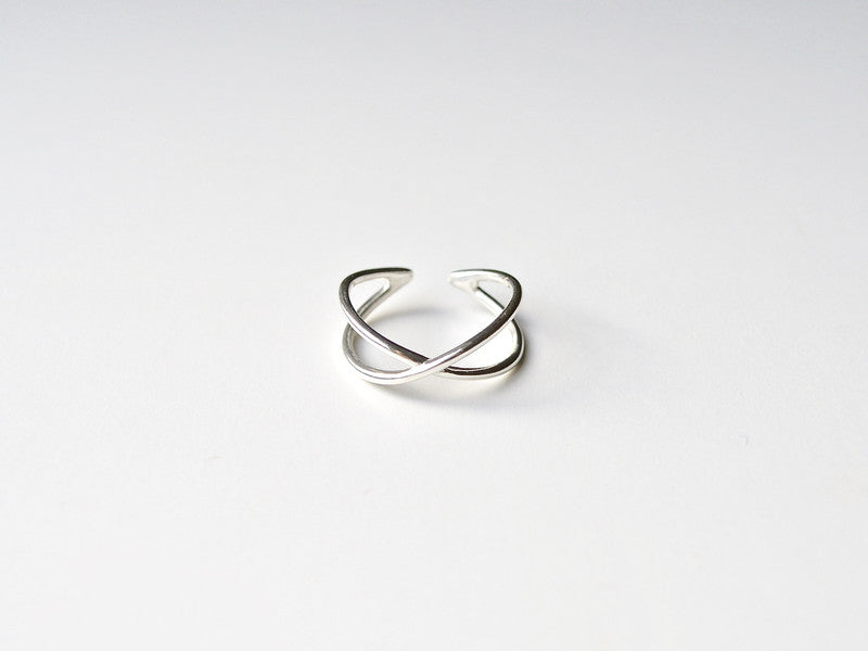 "Cool: Ring ""Cross"" silber"