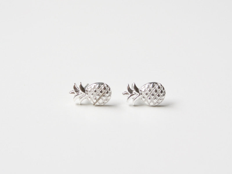 "Too cute: Ohrstecker ""Ananas"" silber"