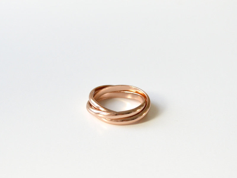 "Pur: Ring ""Endless"" rosévergoldet"