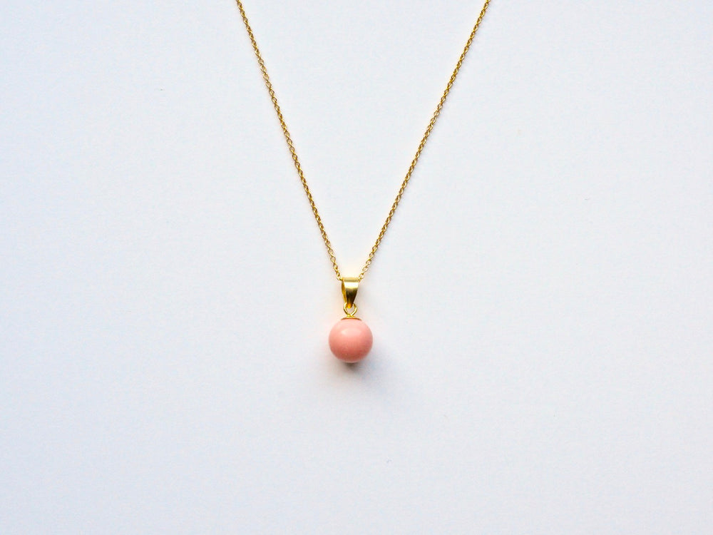 New in: Blush Coral Kette vergoldet