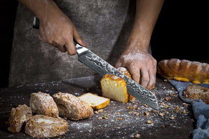 The Heart of Your Kitchen VG-10 Damascus Steel 8 Inches Bread Knife
