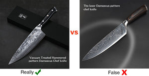 How to Judge Real Damascus Steel Chef Knife?