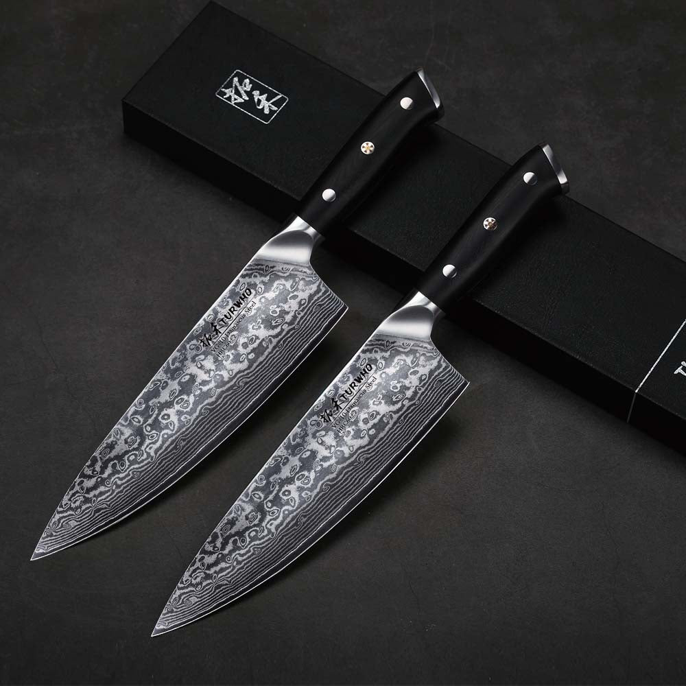 "Professional Handmade 8"" Damascus Chefs Knife, 67-layer Damascus Chef Knife with Japanese VG10 Super Steel Core"