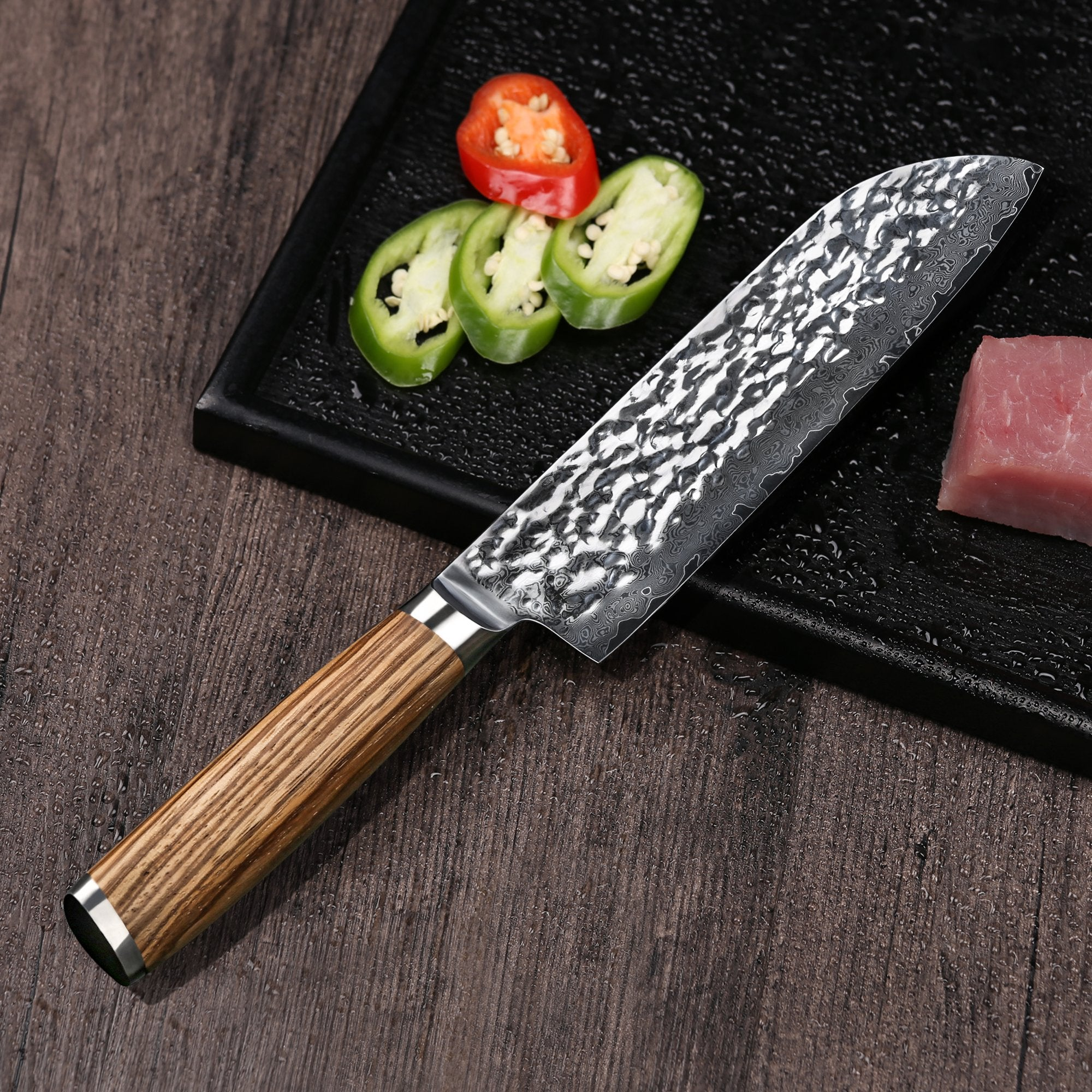 7-INCH SANTOKU CHEF'S KNIFE QUALITY DAMASCUS VG10 STEEL CHEF KNIFE