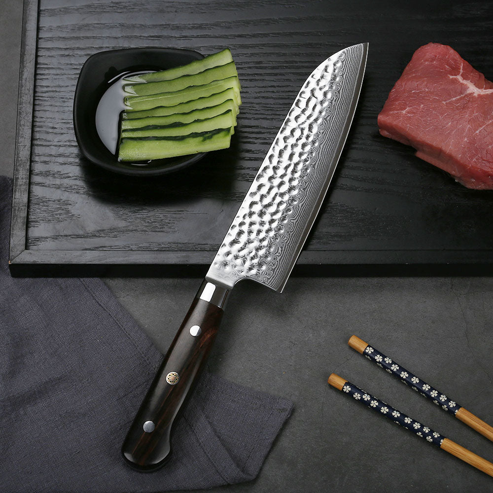There are two ends, including serrated edges so you can easily section the grapefruit and at the same time, they work to prevent squirting of the juices. The blade is also curved to help separate the slices from the rind and both blades are stainless steel mounted on a solid wood handle.